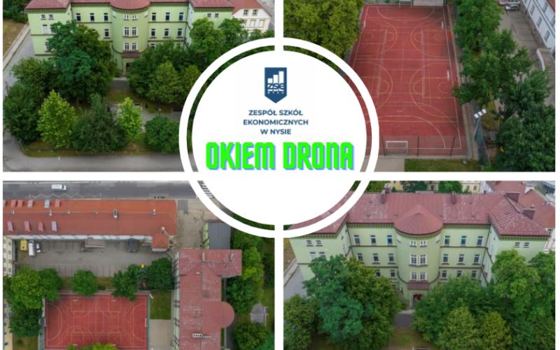 """""""Okiem drona"""" czyli widok na naszą szkołę"""